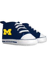 Michigan Wolverines Baby Baby Shoes - Navy Blue