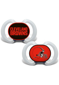 Cleveland Browns Baby 2pk Pacifier - Brown