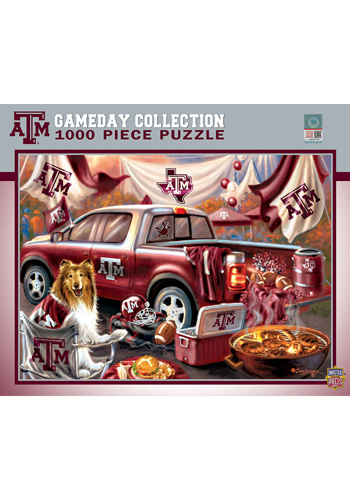 Texas A&M Aggies Gameday 1000 Piece Puzzle - Image 1