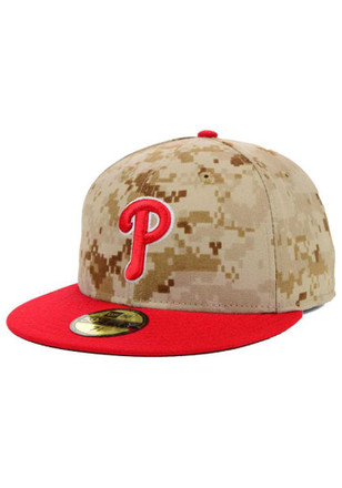 Phillies New Era Mens Green Memorial Day Fitted Hat