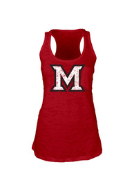 Miami Redhawks Juniors Red Pocket Burn Tank Top