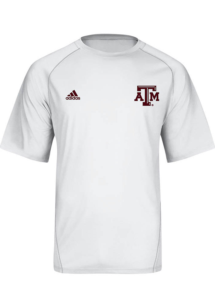 Adidas Texas A&M Aggies White Primary Short Sleeve T Shirt - Image 1