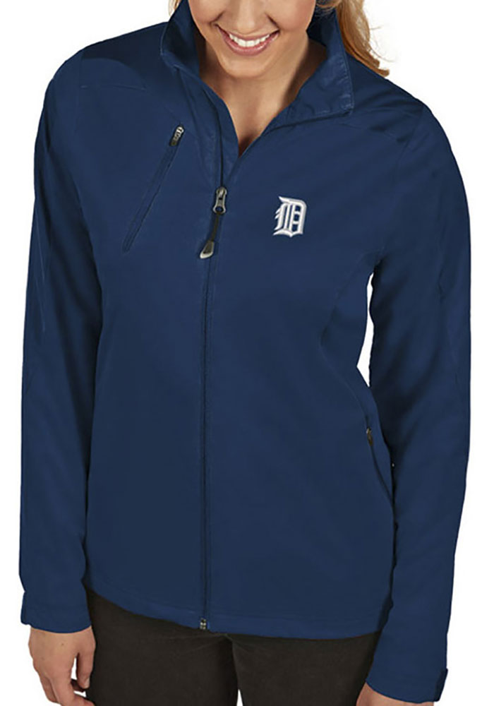 Antigua Detroit Tigers Womens Navy Blue Discover Light Weight Jacket - Image 1