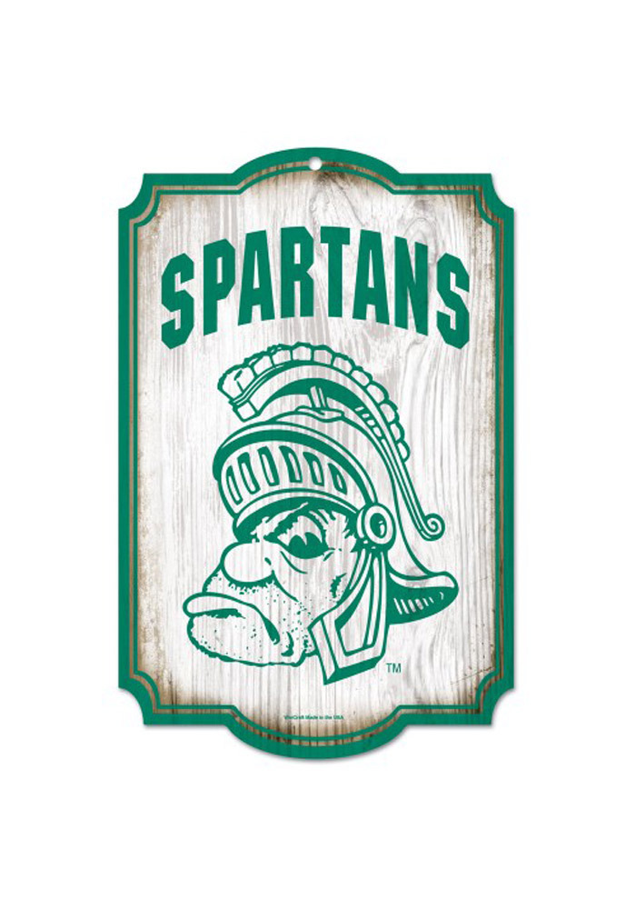 Michigan State Spartans 11x17 Vintage Sign - Image 1