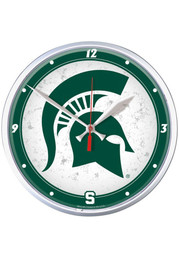 Michigan State Spartans 12.75in Round Wall Clock