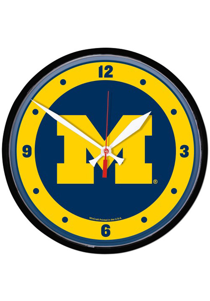 Michigan Wolverines 12.75in Round Wall Clock - Image 1