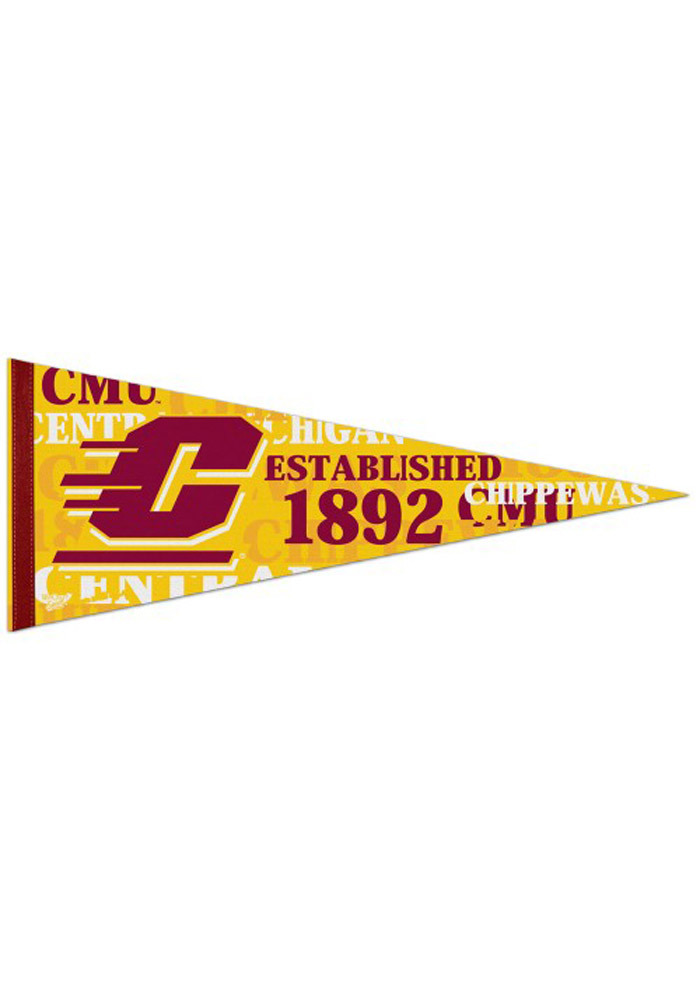 Central Michigan Chippewas 12x30 Vintage Pennant - Image 1
