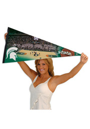 Michigan State Spartans 17x40 Basketball Arena Pennant