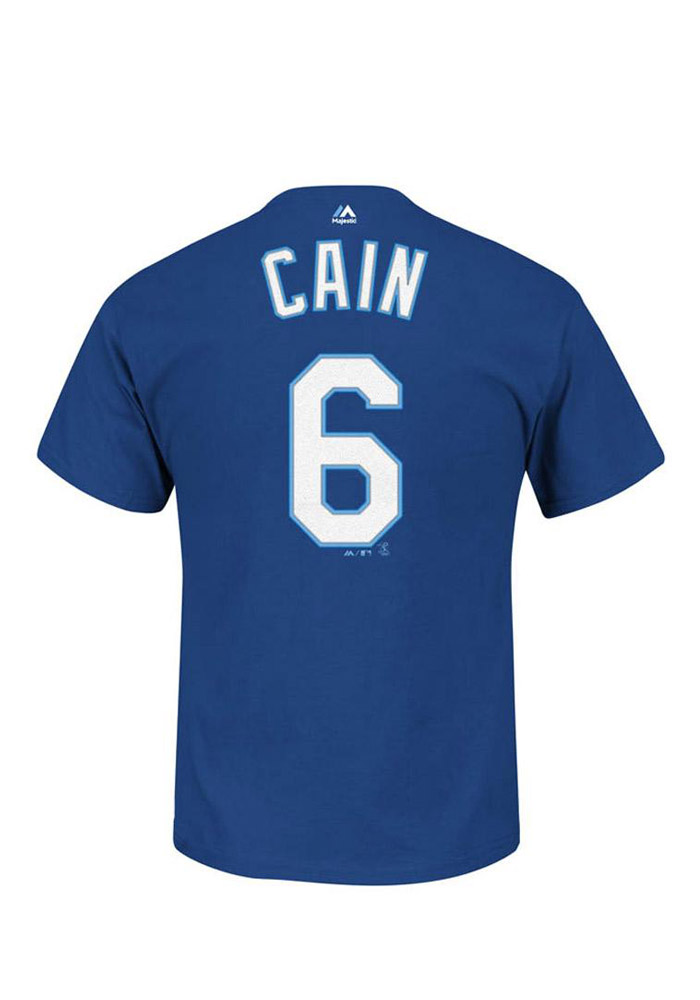 brand new 5bea9 2afb9 Lorenzo Cain Kansas City Royals Blue Name and Number Short Sleeve Player T  Shirt