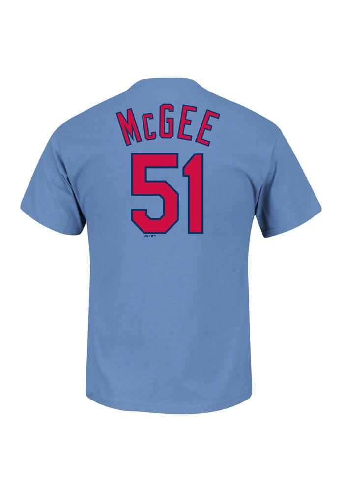 Willie McGee St Louis Cardinals Blue Willie McGee Short Sleeve Player T Shirt - Image 1