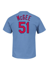 Willie McGee St Louis Cardinals Blue Willie McGee Player Tee