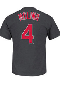 Yadier Molina St Louis Cardinals Charcoal Molina Player Tee
