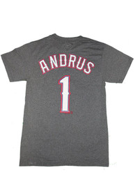 Elvis Andrus Texas Rangers Charcoal name and number Player Tee