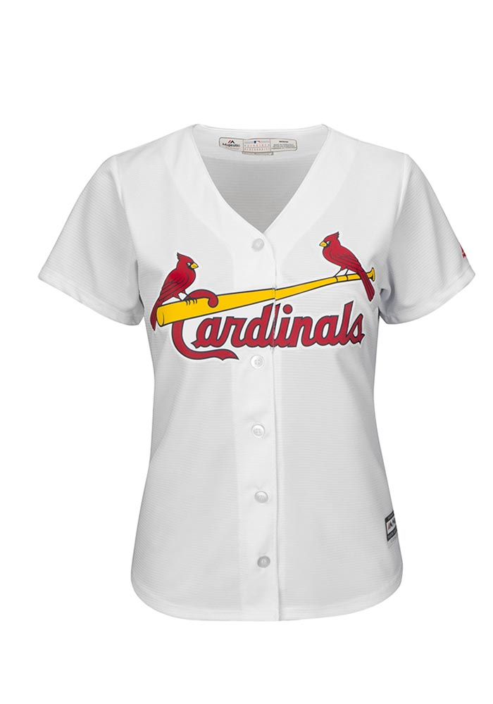St Louis Cardinals Womens Majestic Replica Cool Base Jersey - White - Image 1