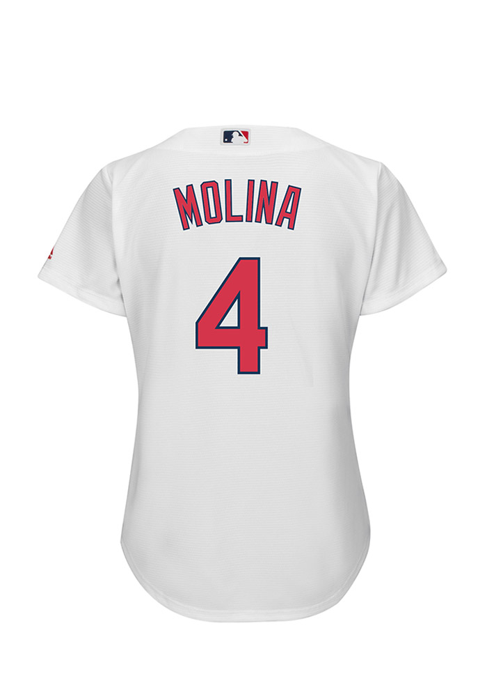 Yadier Molina St Louis Cardinals Womens Replica Cool Base Jersey Jersey - White - Image 1