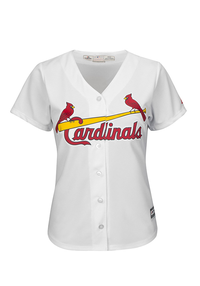 Yadier Molina St Louis Cardinals Womens Replica Cool Base Jersey Jersey - White - Image 2