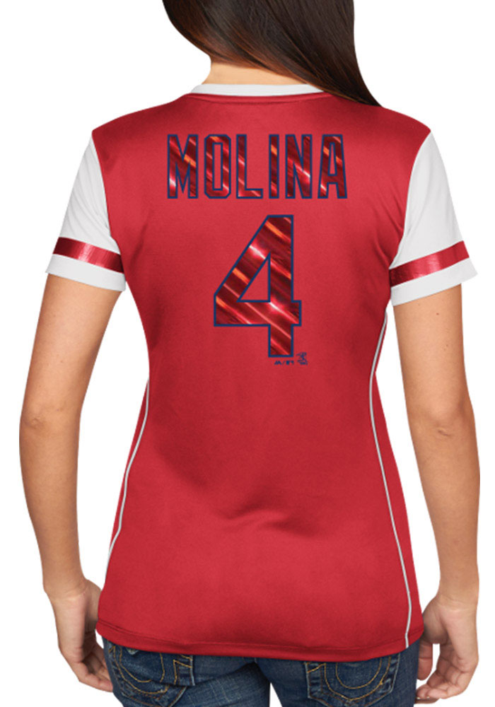 competitive price 9de24 6c2ee Yadier Molina St Louis Cardinals Womens Player Tee Fashion Baseball Jersey  - Red