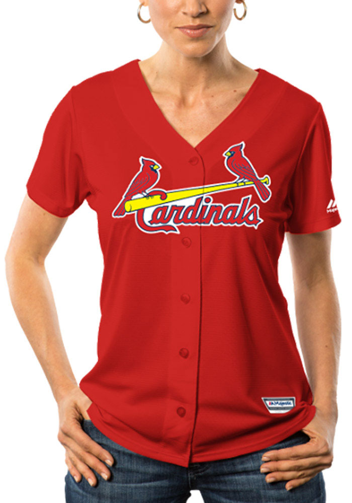 St Louis Cardinals Womens Majestic Replica Cool Base Jersey Jersey - Red - Image 1