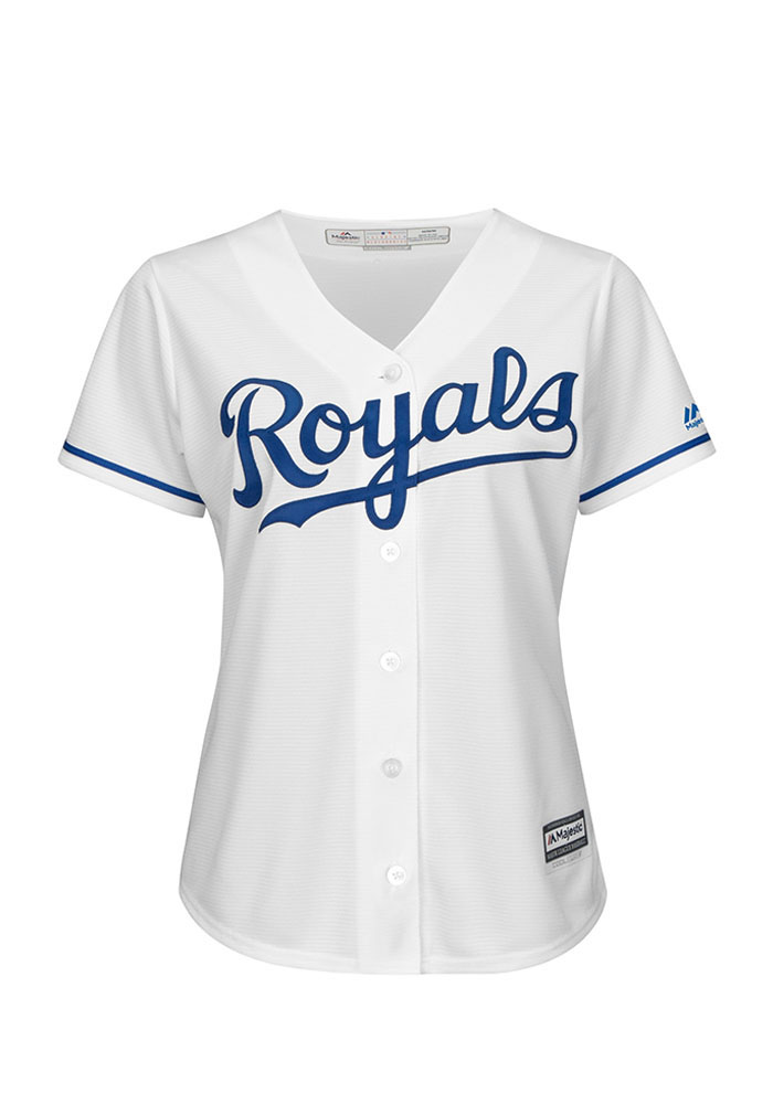 Eric Hosmer Kansas City Royals Womens Replica Cool Base Jersey - White - Image 2