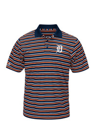Detroit Tigers Majestic Home Plate Heat Polo Shirt - Navy Blue