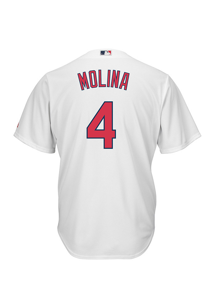 Yadier Molina St Louis Cardinals Mens Replica Cool Base Jersey Jersey - White - Image 1