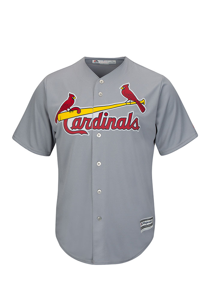 Yadier Molina St Louis Cardinals Mens Replica Cool Base Jersey Jersey - Grey - Image 2