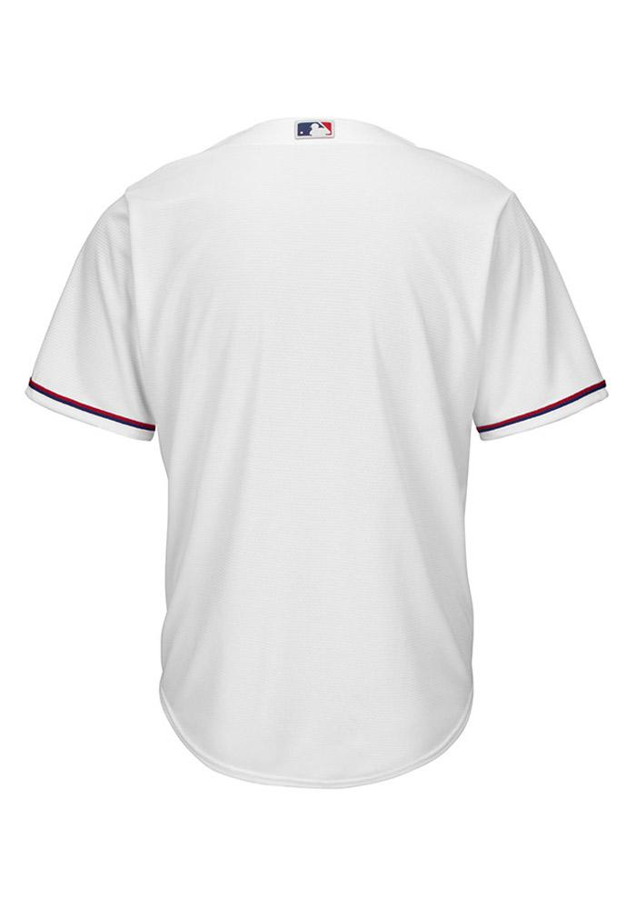 Texas Rangers Mens Majestic Replica Cool Base Jersey Jersey - White - Image 2