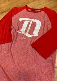 Majestic Detroit Red Wings Red Vintage Double Minor Fashion Tee