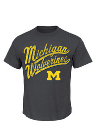 Majestic Michigan Wolverines Charcoal Best Comeback Tee