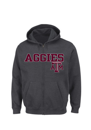 Majestic Texas A&M Mens Grey Go-To Move Full Zip Jacket
