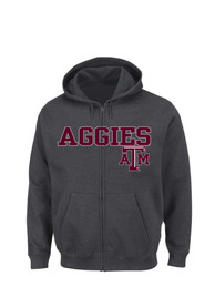 Texas A&M Aggies Majestic Go-To Move Full Zip Jacket - Charcoal