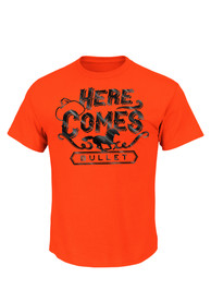 Majestic Oklahoma State Cowboys Orange Here Comes the Bullet Tee