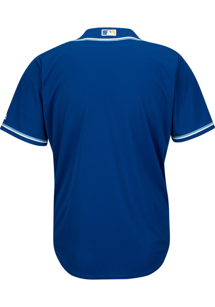 Kansas City Royals Mens Majestic Replica Cool Base Jersey Jersey - Blue - Image 2