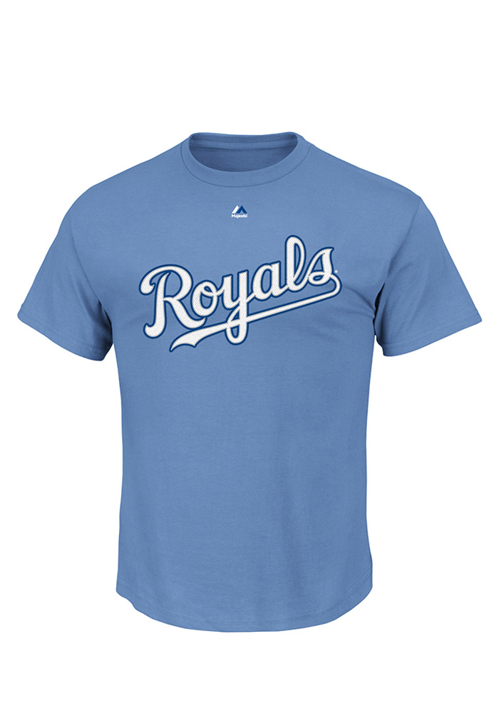 Lorenzo Cain Kansas City Royals Mens Blue Name and Number Short Sleeve Player T Shirt - Image 2