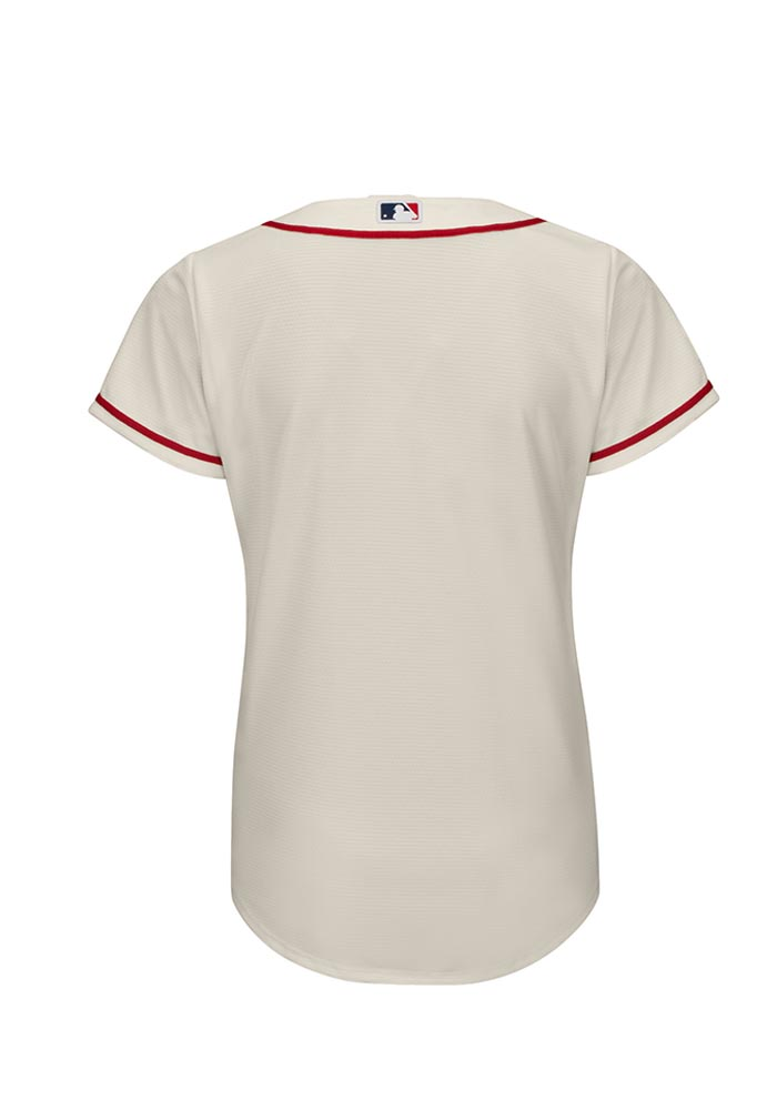 St Louis Cardinals Womens Majestic Replica Cool Base Replica Jersey - Ivory - Image 2