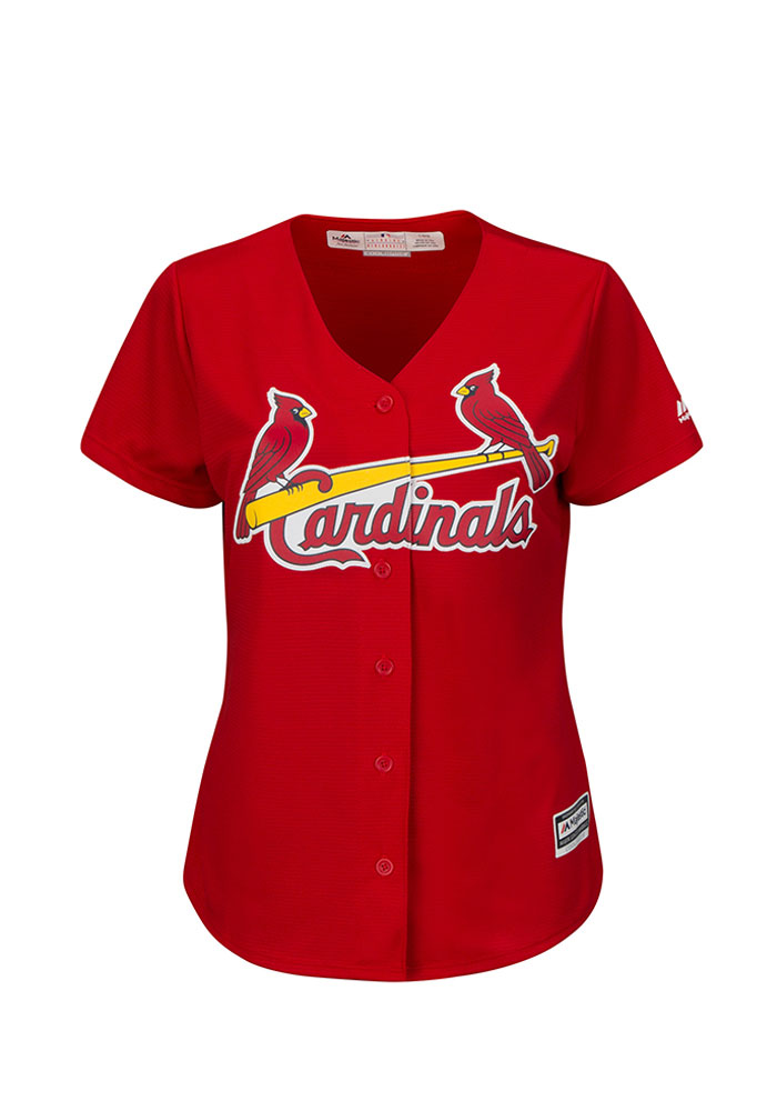 St Louis Cardinals Womens Majestic Replica Cool Base 2016 Jersey - Red - Image 1