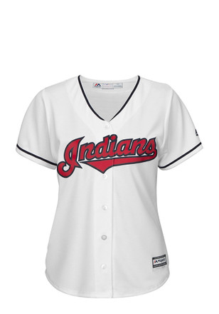 Cleveland Indians Womens Majestic Replica Cool Base Jersey