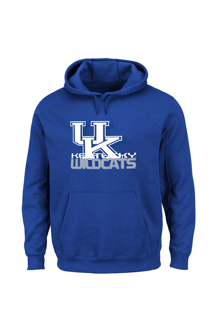 Majestic Kentucky Wildcats Mens Blue Basic Long Sleeve Hoodie - Image 1