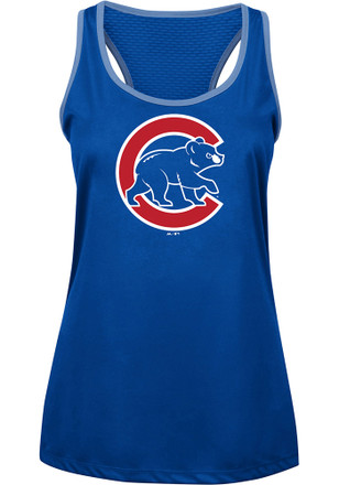 Majestic Chicago Cubs Womens Blue All About Function Tank Top