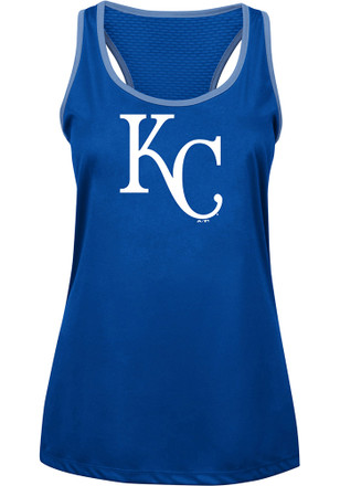 Majestic Kansas City Royals Womens Blue All About Function Tank Top