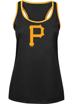 Majestic Pittsburgh Pirates Womens Black All About Function Tank Top