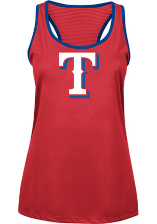Majestic Texas Rangers Womens Red All About Function Tank Top