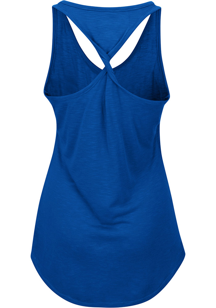 Majestic Chicago Cubs Womens Blue Four Seamer Tank Top - Image 2