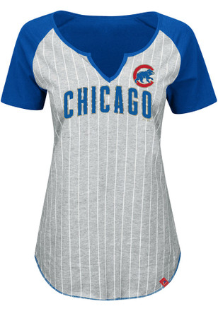Majestic Chicago Cubs Womens Blue From The Stretch V-Neck