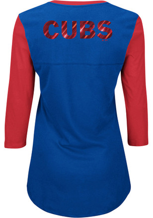 Majestic Chicago Cubs Womens Blue Above Average T-Shirt