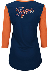 Majestic Detroit Tigers Womens Navy Blue Above Average T-Shirt