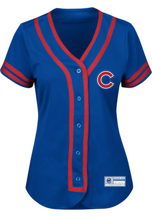 Chicago Cubs Womens Majestic Replica Fashion Jersey