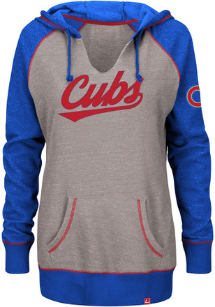 Majestic Chicago Cubs Womens Grey Absolute Confidence Hoodie