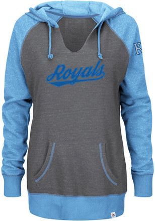 Majestic Kansas City Royals Womens Grey Absolute Confidence Hoodie