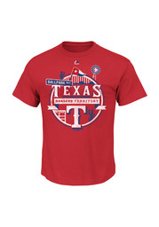 Majestic Texas Rangers Red State Flag Tee